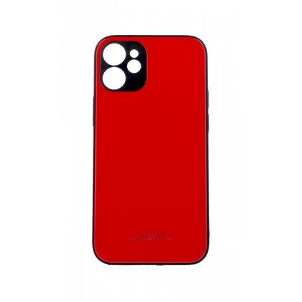 Zadný pevný kryt LUXURY na iPhone 12 červený