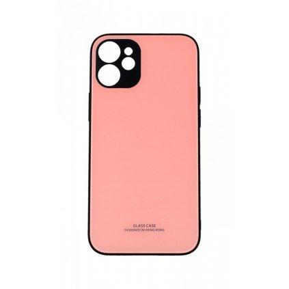 Zadný pevný kryt LUXURY na iPhone 12 ružový