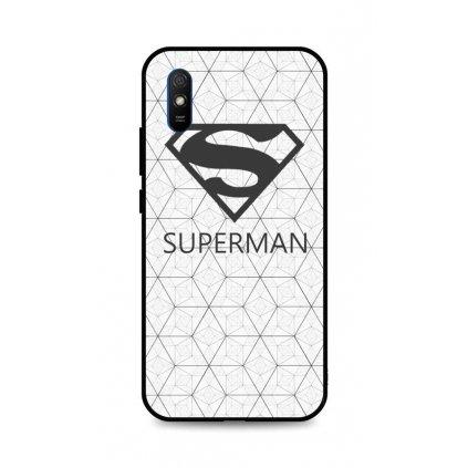 Zadný 3D silikónový kryt na Xiaomi Redmi 9A Biely Superman