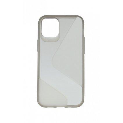 Zadný silikónový kryt na iPhone 12 S-line tmavý