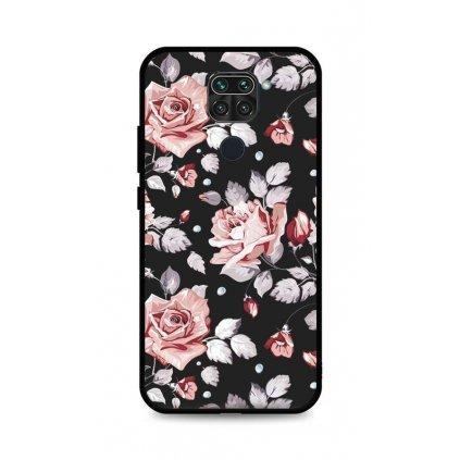Zadný pevný kryt LUXURY na Xiaomi Redmi Note 9 Black Roses