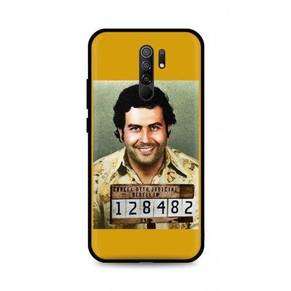 Zadný silikónový kryt DARK na Xiaomi Redmi 9 Pablo Escobar