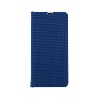 Flipové puzdro Luna Carbon Book na Samsung A21s modré