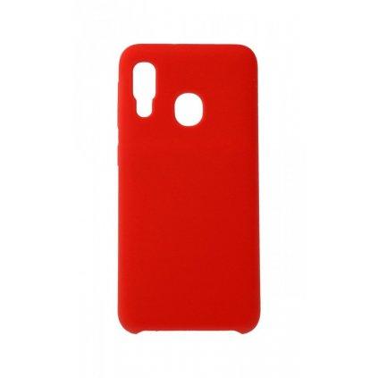 Zadný silikónový kryt Forcell Gummy na Samsung A20e červený