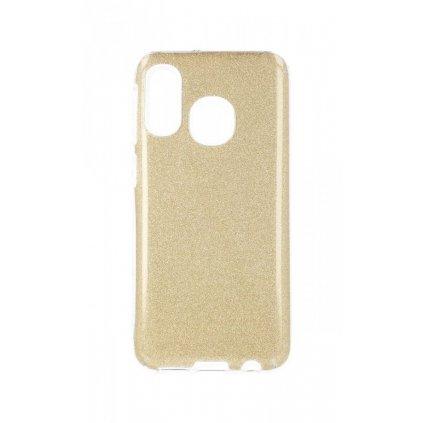 Zadný pevný kryt Forcell na Samsung A20e glitter zlatý