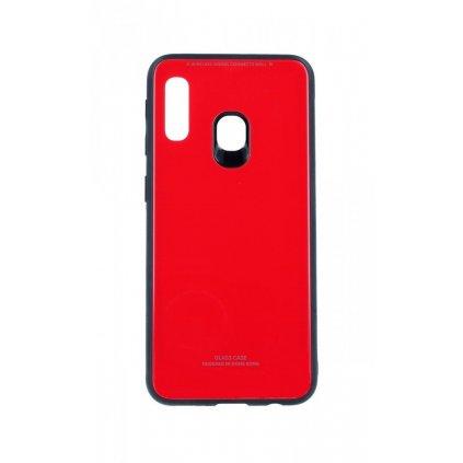 Zadný pevný kryt LUXURY na Samsung A20e červený