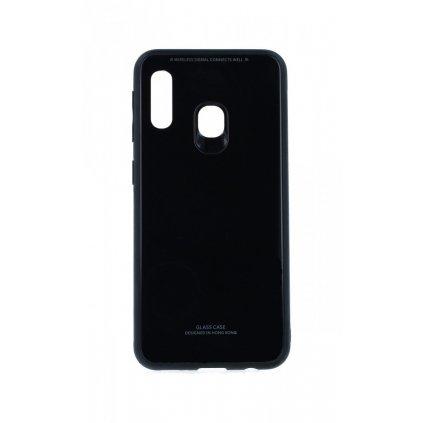 Zadný pevný kryt LUXURY na Samsung A20e čierny