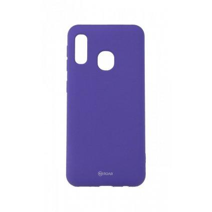Zadný silikónový kryt Roar na Samsung A20e fialový