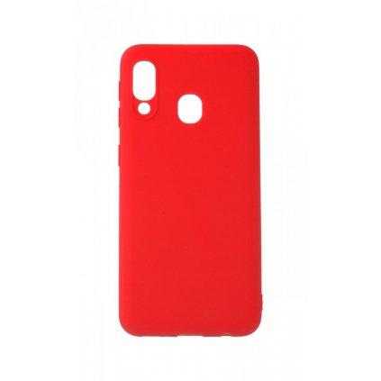 Zadný silikónový kryt Forcell Soft na Samsung A20e červený