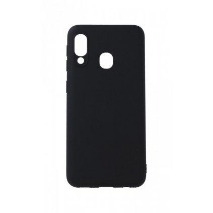 Zadný silikónový kryt Forcell Soft na Samsung A20e čierny