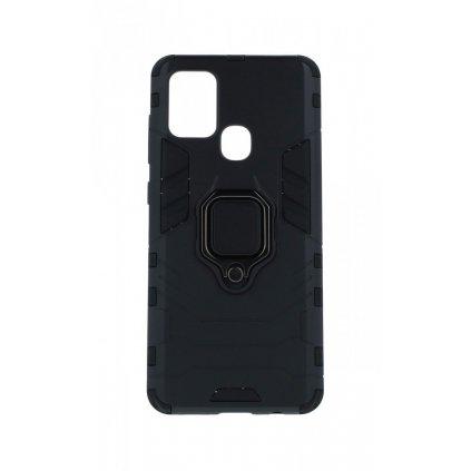 Ultra odolný zadný kryt na Samsung A21s čierny s prsteňom