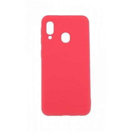 Zadný silikónový kryt Forcell Lite na Samsung A20e ružový