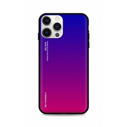 Zadný pevný kryt LUXURY na iPhone 12 Pro dúhový fialový
