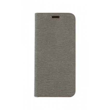 Flipové puzdro Luna Book na Samsung A20e strieborné