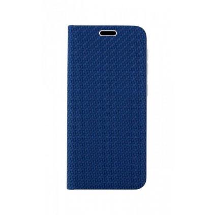 Flipové puzdro Luna Carbon Book na Samsung A20e modré