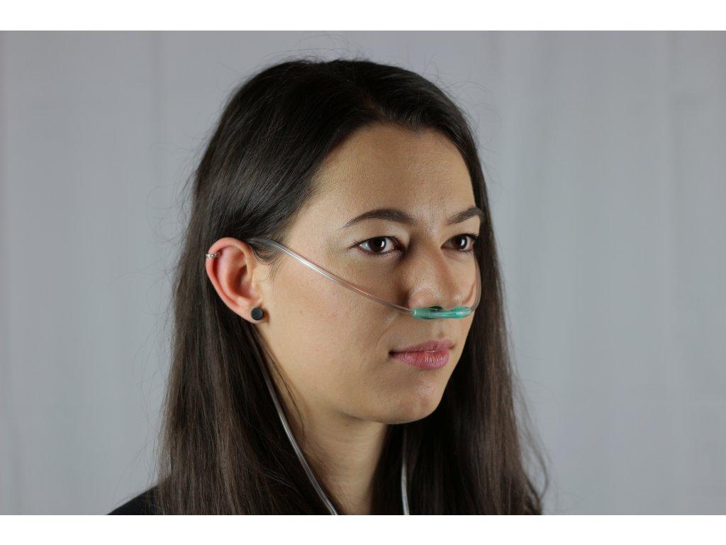 Vysoko průtokové kyslíkové nosní brýle k dýchacímu přístroji 2,1 m