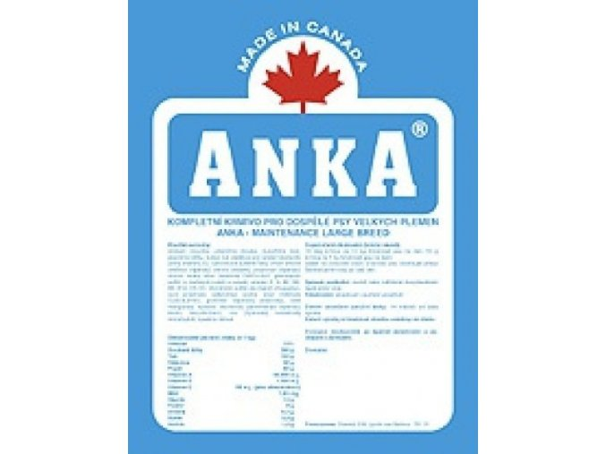 Anka Maintenance Lagre Breed 10 kg