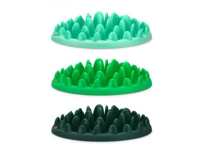 Karlie Miska Northmate® interaktivní tmavě zelená 40x30x10cm