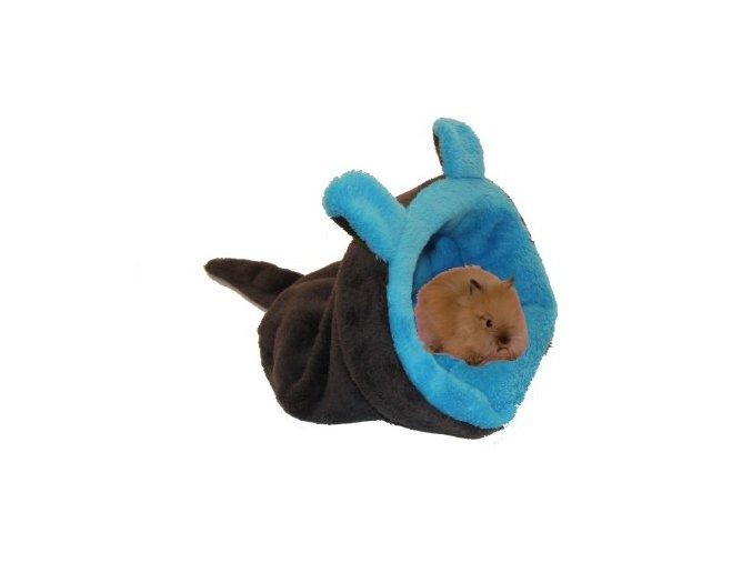 Marysa pelíšek 2v1 mini pro hlodavce/fretky, MYŠÁK, tmavě šedý/modrý