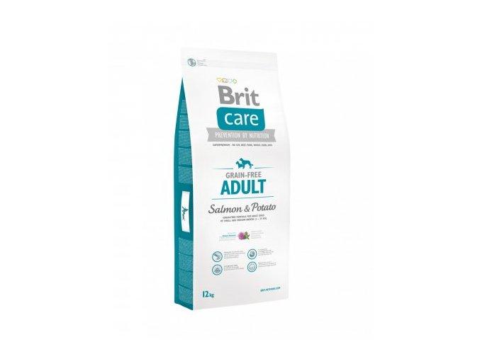 BRIT CARE GRAIN-FREE ADULT SALMON & POTATO 12+3kg