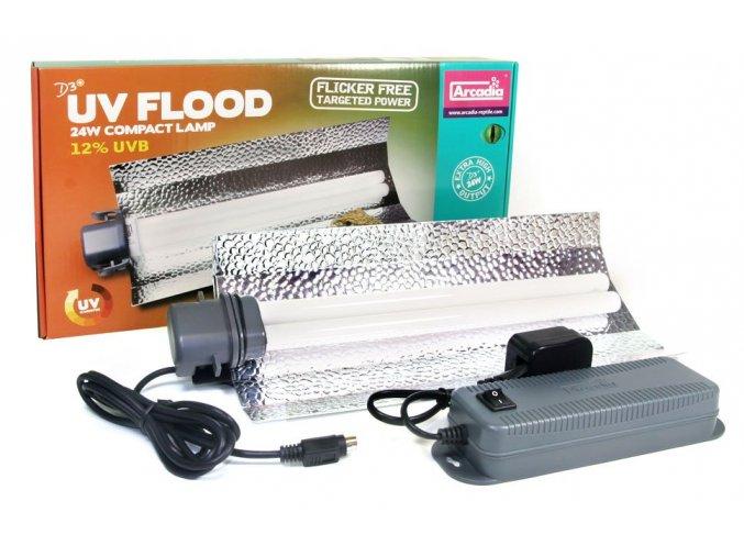 Arcadia D3+ Flood Lamp 24W 12.0 UVB D3+ Flood Lamp 24w 12% 35 cm