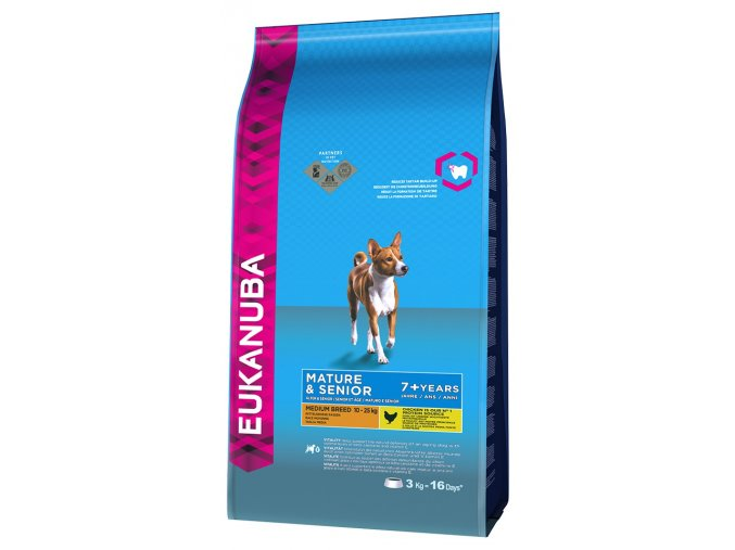 eukanuba mature senior medium breed 3kg original