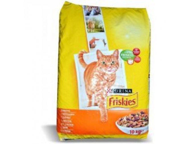 Friskies Cat s kuřecím masem a zeleninou 10kg