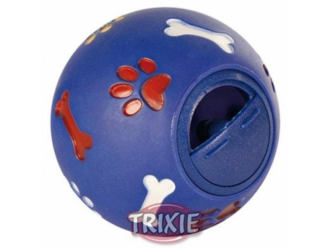 Hračka pro psy - Plastový míček na pamlsky 14 cm