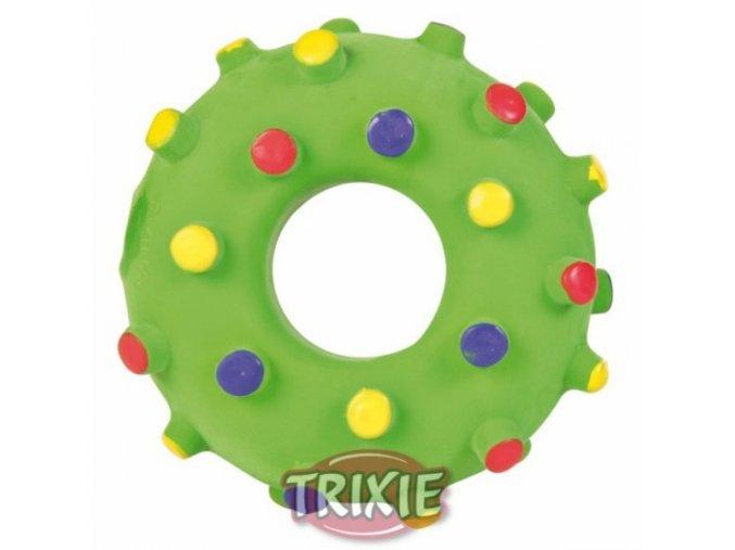 Latexové mini kolečko s barevnými puntíky Ø 8 cm