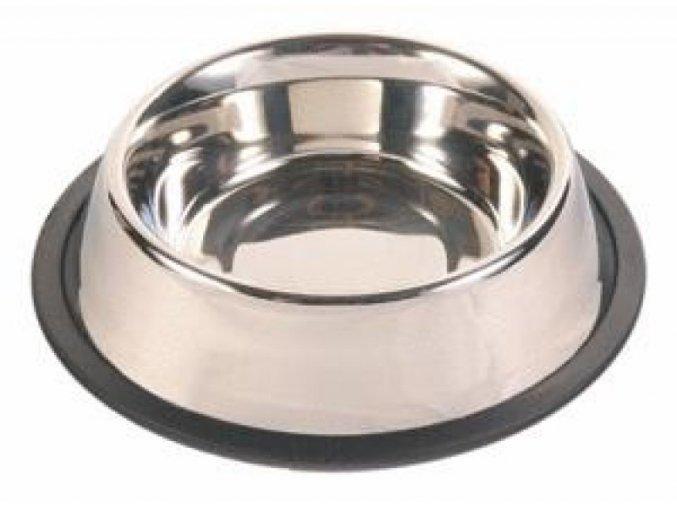 Nerezové misky pro psy s gumou