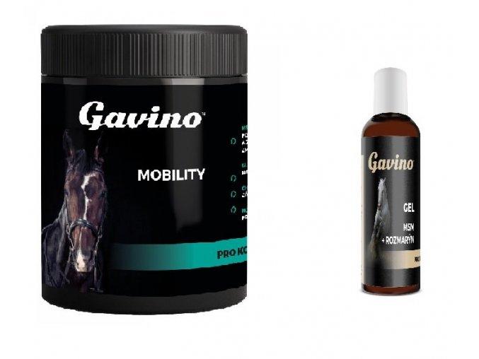 Gavino Mobility pro koně 700g + Gavino Gel MSM+Rozmarýn 500 ml