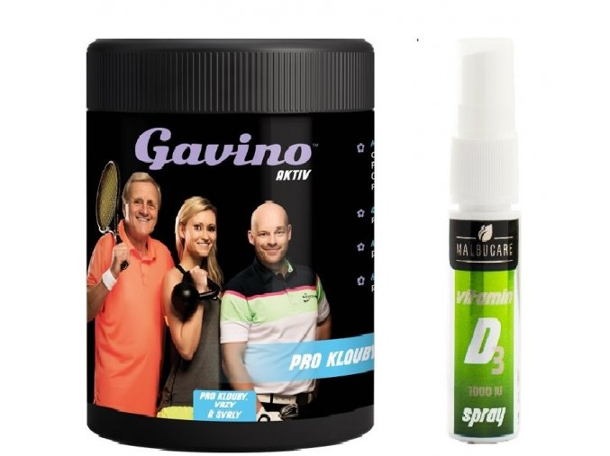 Gavino Aktiv 700g + Malbucare Vit. D3 15ml spray