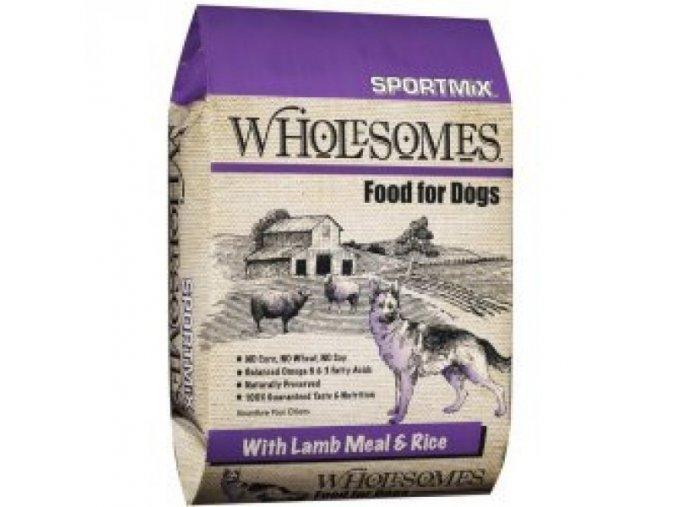 Sportmix Wholesomes jehněčí & hněd rýže 12 kg