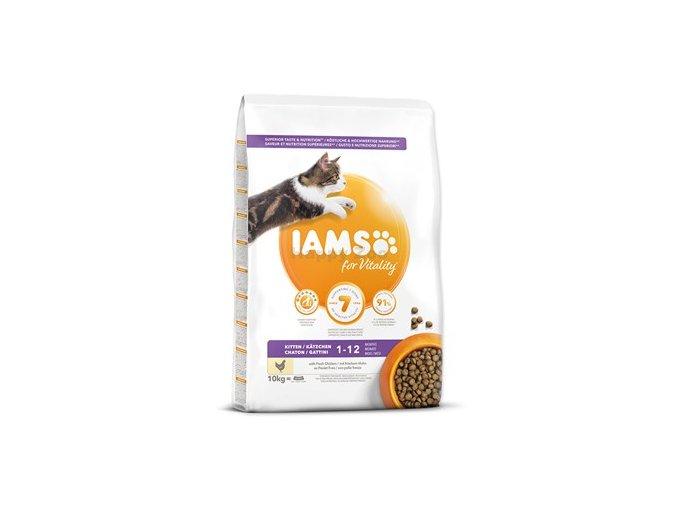 Eukanuba Iams for Vitality Kitten Food with Fresh Chicken 10 kg