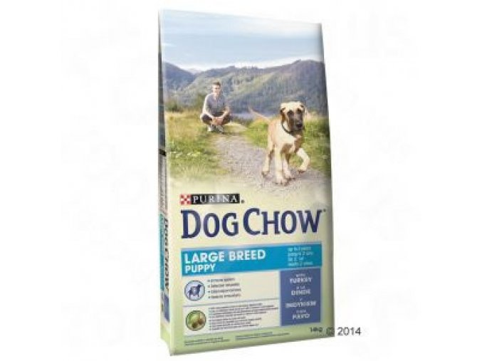 PURINA Dog Chow Puppy Large Breed Turkey 14 kg
