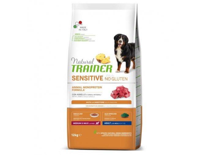trainer natural sensitive no gluten adult medium maxi lamb 12 kg