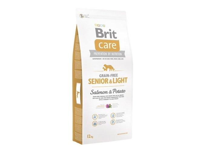 BRIT CARE GRAIN-FREE SENIOR&LIGHT SALMON & POTATO 12kg