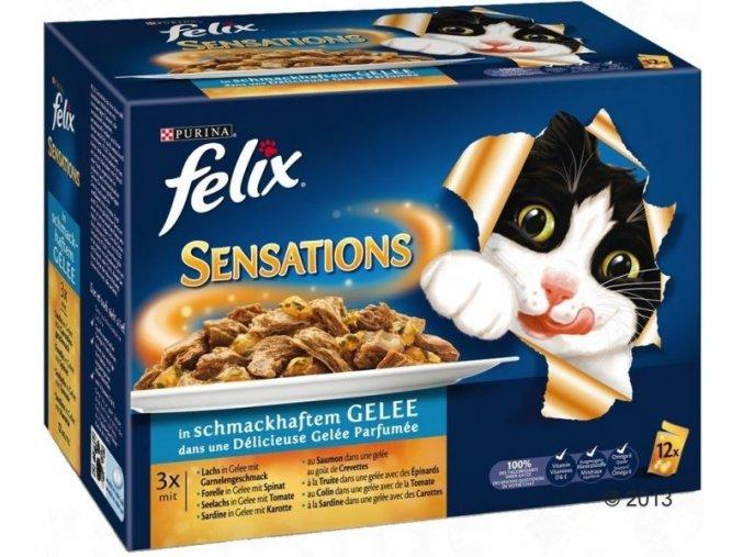 Felix kapsička Sensations v želé výběr z ryb v želé 12 x 100 g