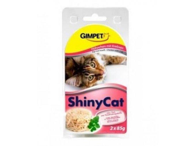Gimpet ShinyCat kuře+krab 2 x 70 g