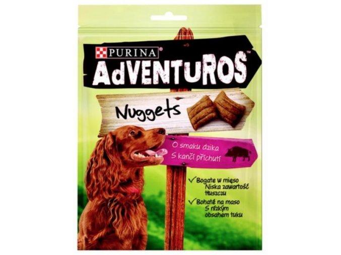 Purina Adventuros snack dog - nugetky s kančí přích. 90 g