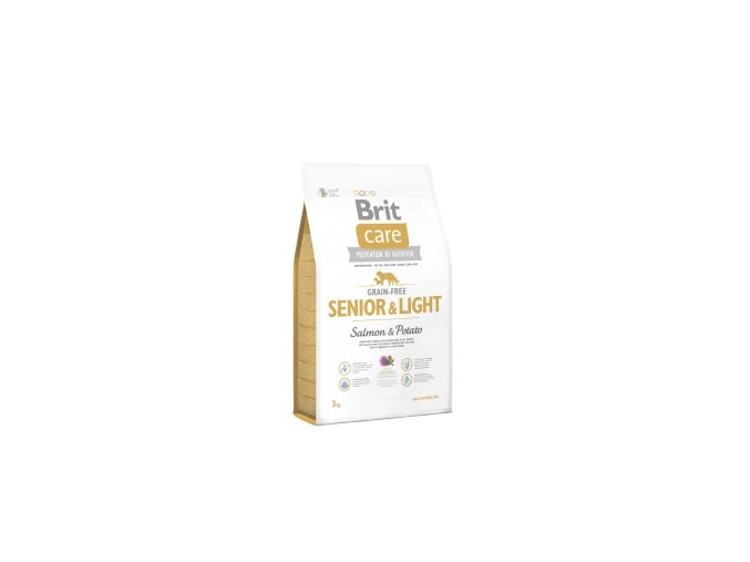 416 447 brit care grain free senior light salmon potato 3 kg