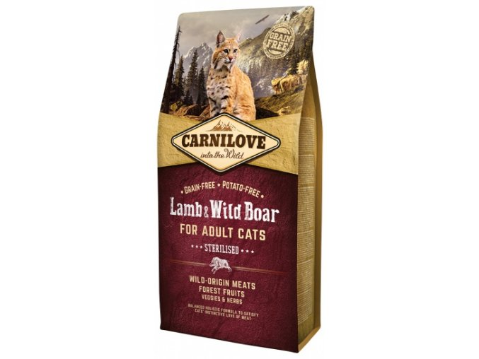 carnilove lamb and wild boar adult cats sterilised 6kg small product