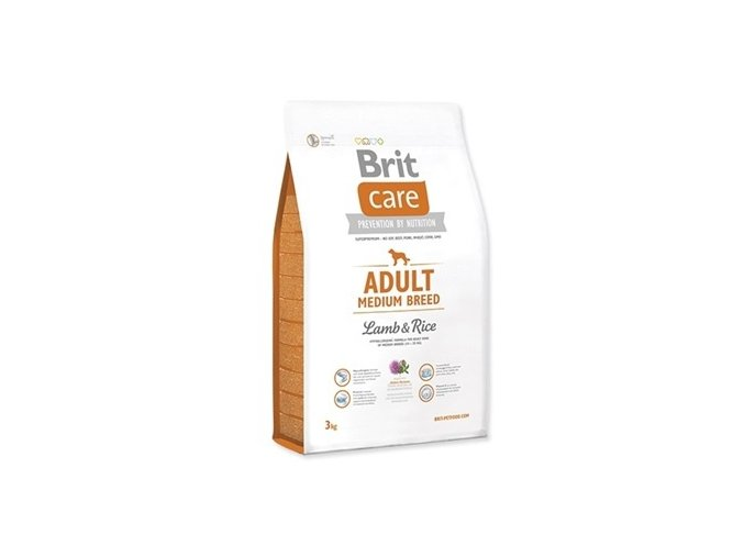 brit care adult medium breed lamb rice 3kg original
