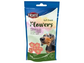 Trixie Soft Snack Flowers měkké kytičky skopové, drůbeží 75g