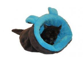 Marysa pelíšek 2v1 pro štěňátka/koťátka, MYŠÁK, modrý/černý