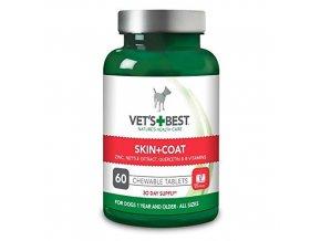 VET´S BEST Žvýkací tablety na srst a kůži pro psy