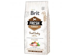 Brit Fresh Turkey & Pea Adult Fit & Slim 12 kg  + Dárek