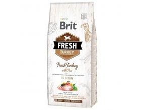 Brit Fresh Turkey & Pea Adult Fit & Slim 12 kg  + Dárek