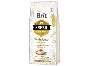 brit fresh chicken potato adult great life 12kg