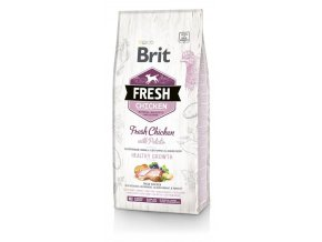 Brit Fresh Chicken & Potato Puppy Healthy Growth 12 kg